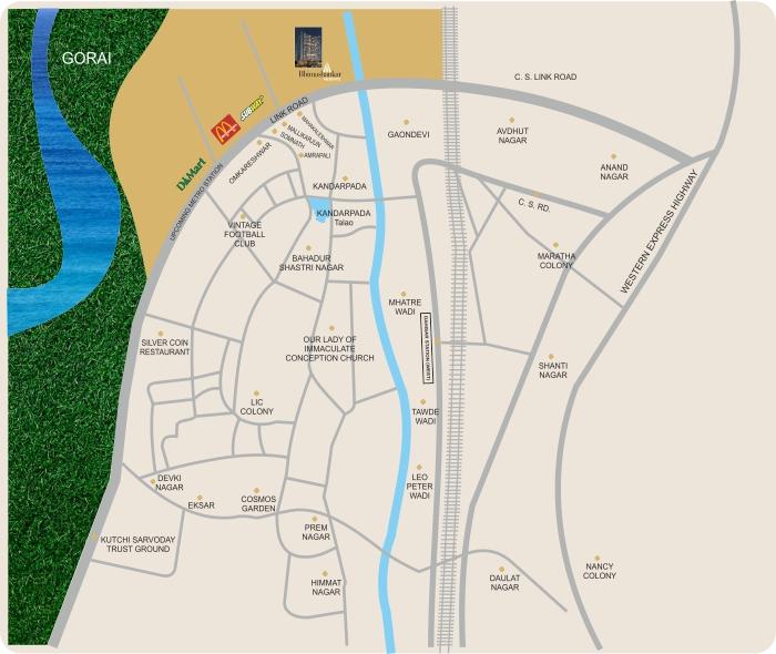 Mallhar Bhimashankar Heights Location Map