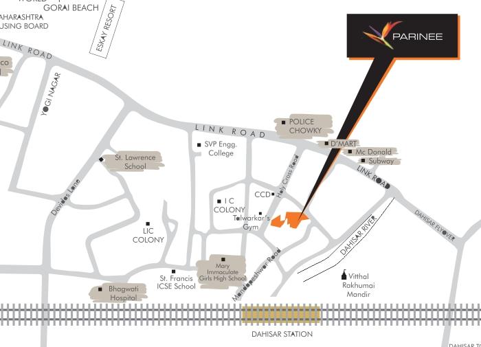 Parinee Almog Location Map