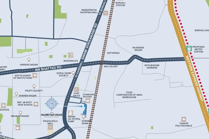 Sunder Shree Madhuvan Dham Location Map
