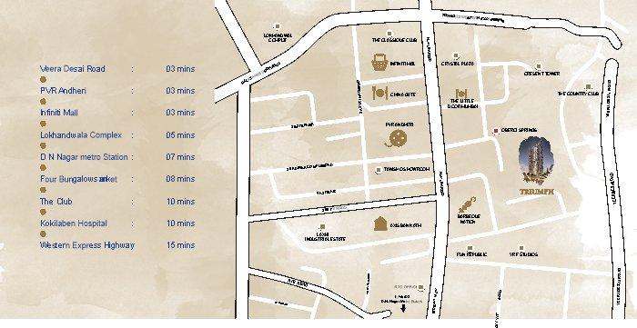 Transcon Triumph Location Map