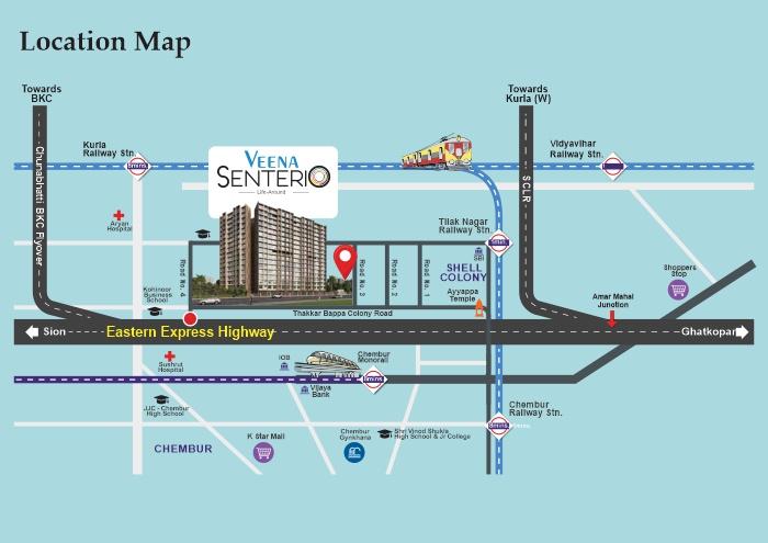 Veena Senterio Location Map