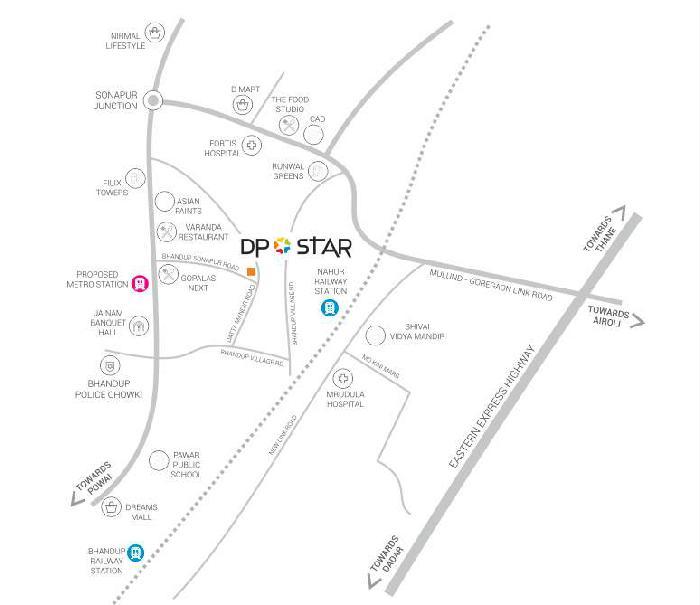 DP Star Location Map