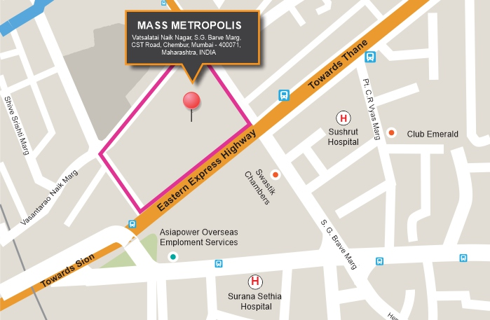 Mass Metropolis Location Map