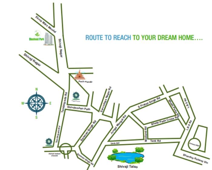 SV Shashwat Park Location Map
