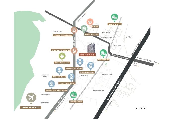 Srishti Pride Location Map