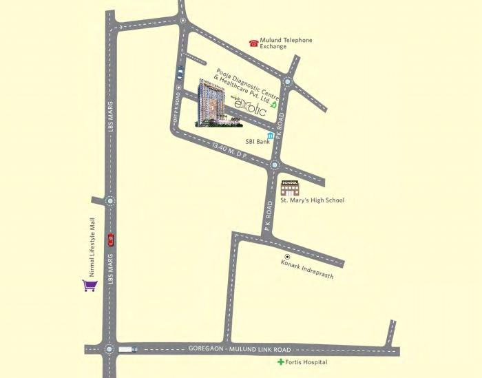 Marigold Miraaya Location Map