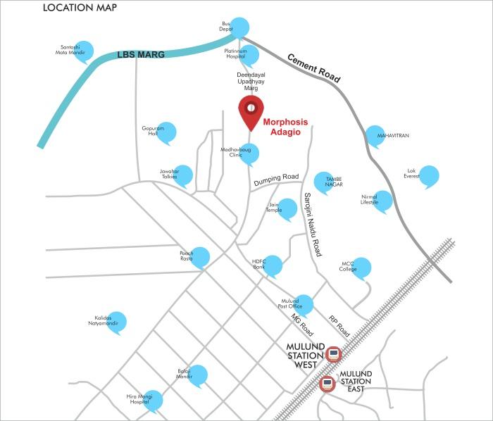 Morphosis Adagio Location Map