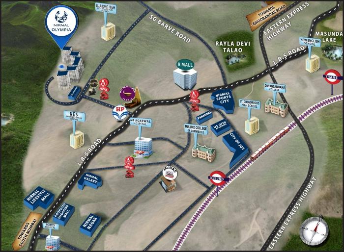Nirmal Olympia Location Map