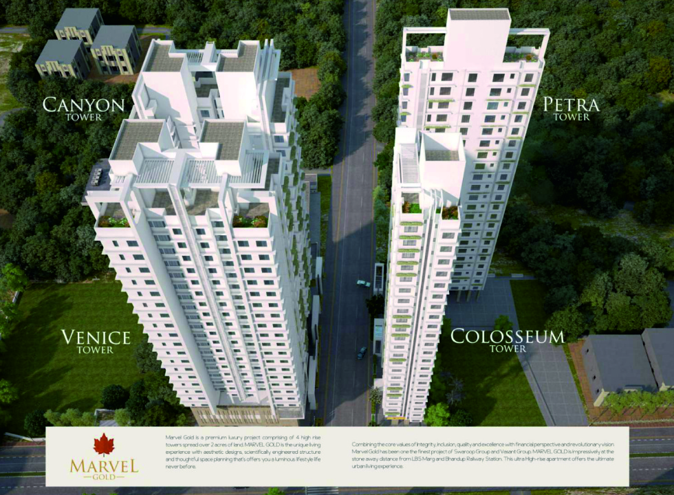 1 & 2 BHK Flats in Bhandup West Mumbai in Marvel Gold - Sqmtrs
