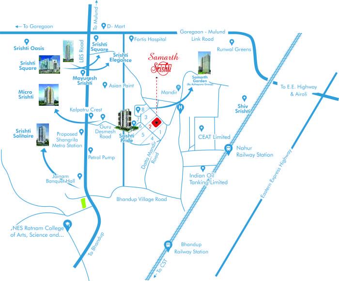 Samarth Srishti Location Map
