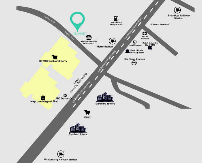 Sanghvi Atlanta Location Map