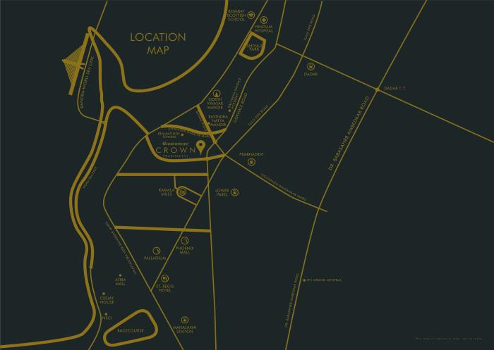 Rustomjee Crown Location Map