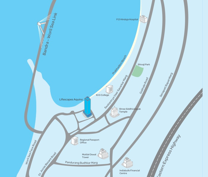 Rohan Lifescapes Aquino Location Map