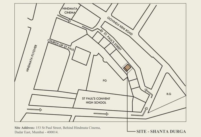 Lakshmi Shantadurga Location Map
