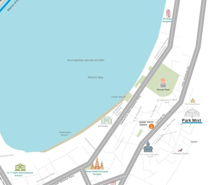Park Mist - Dadar West Location Map