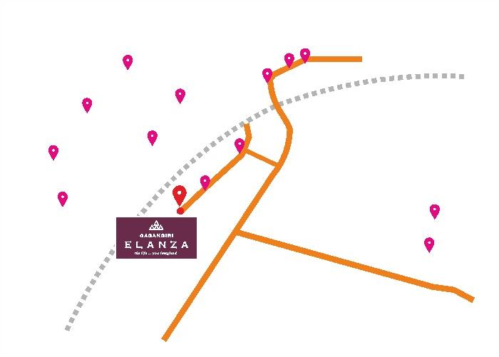Gagangiri Elanza Location Map