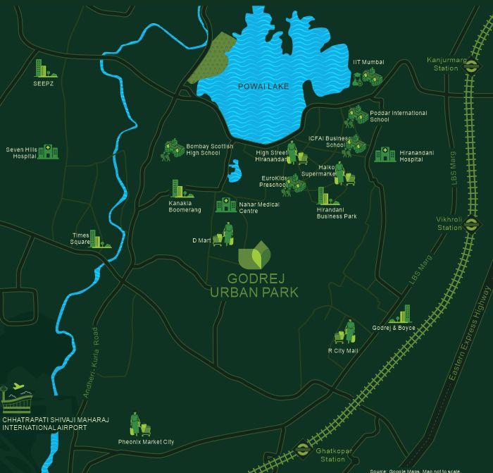 Godrej Urban Park Location Map