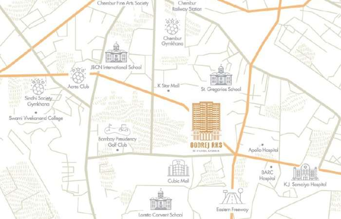 Godrej RKS Location Map
