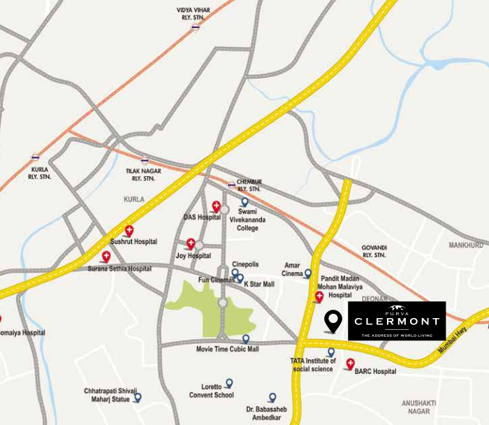 Purva Clermont Location Map