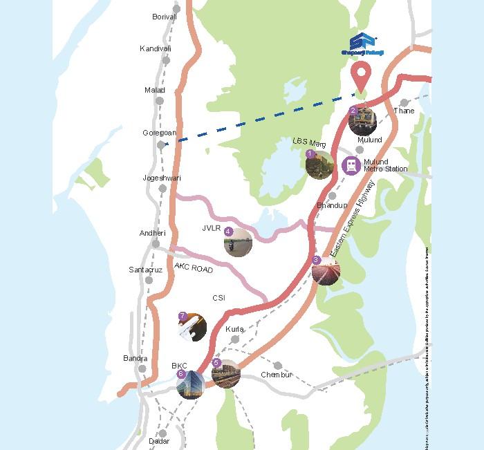 Shapoorji Pallonji Mumbai Dreams Location Map