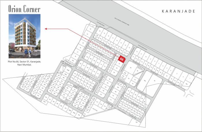 Orien Corner Location Map