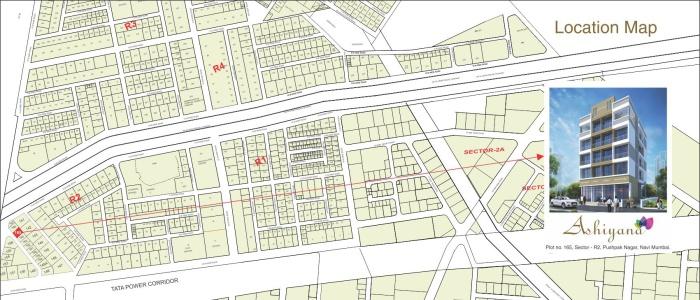 Aura Ashiyana Location Map