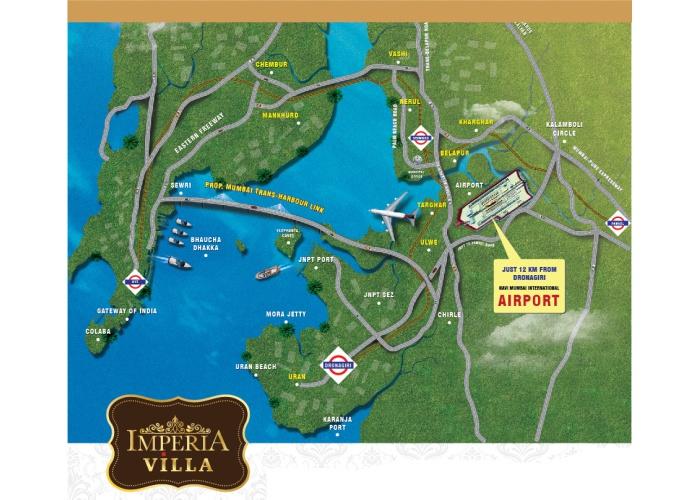Imperia Villa Location Map