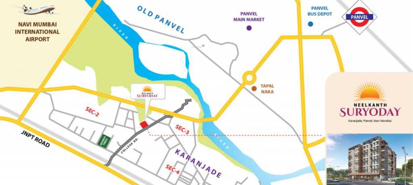 Neelkanth Suryoday Location Map