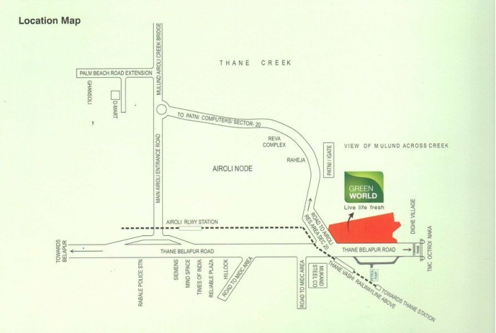 Akshar Green World Location Map