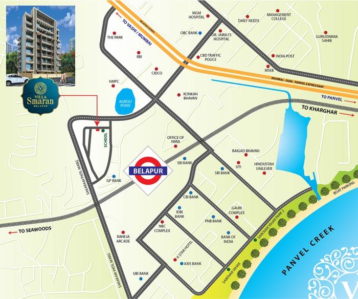 Villa Smaran Location Map