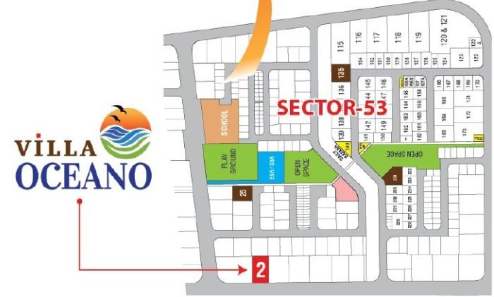 Villa Oceano Location Map