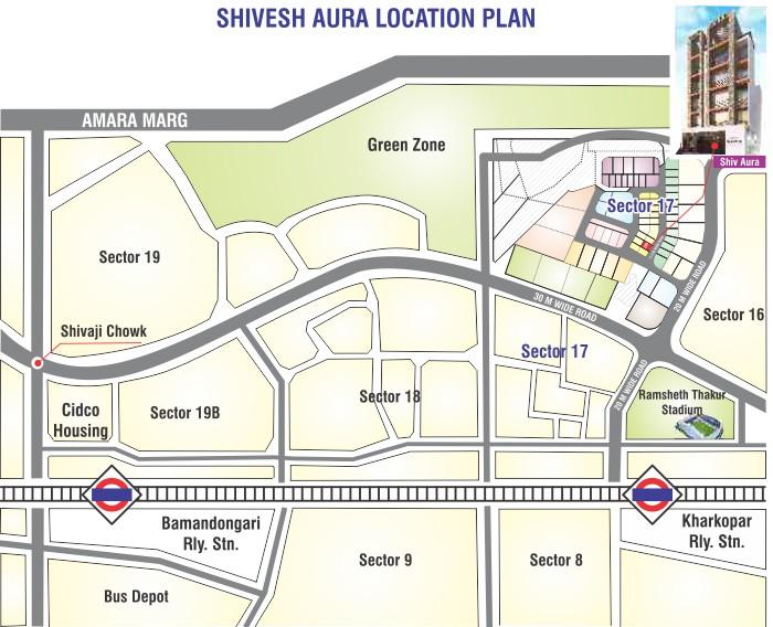 Shivesh Aura Location Map