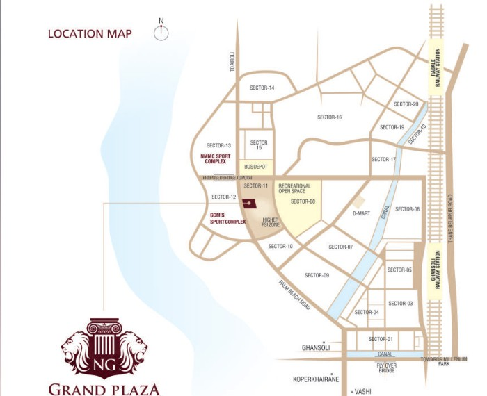 RNA Grand Plaza Location Map