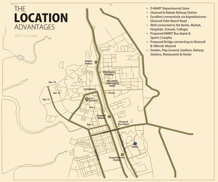 Juhi Serenity Location Map