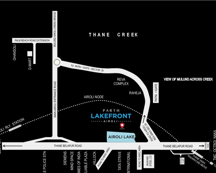 Parth Lakefront Location Map