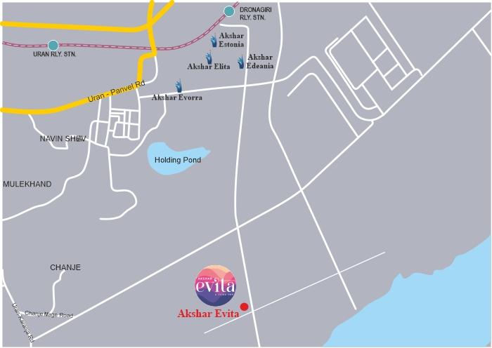 Akshar Evita Location Map