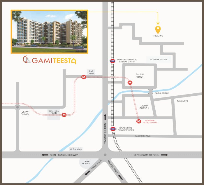 Gami Teesta Location Map