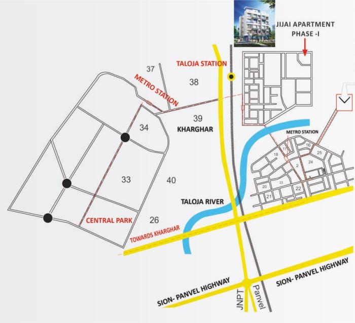 Shubham Jijai Angan Location Map