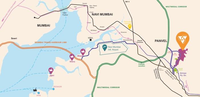 Wadhwa Wise City Location Map