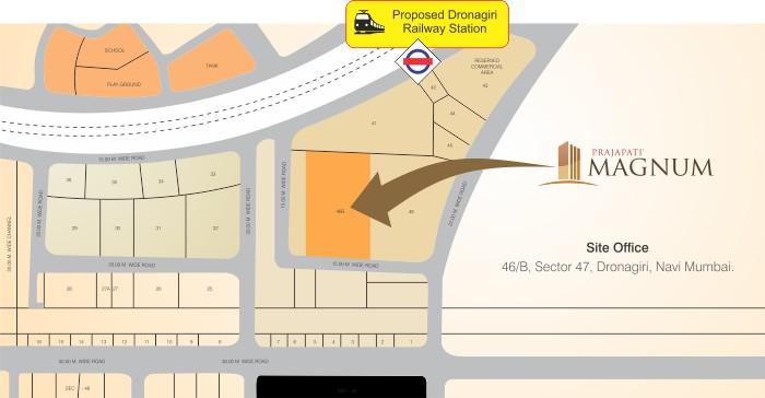 Prajapati Magnum Location Map
