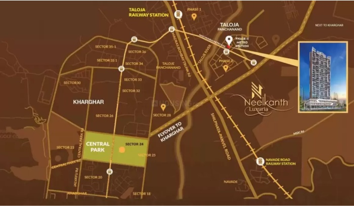 Neelkanth Luxuria Location Map