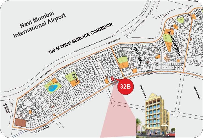 Trimurti Apartments Location Map