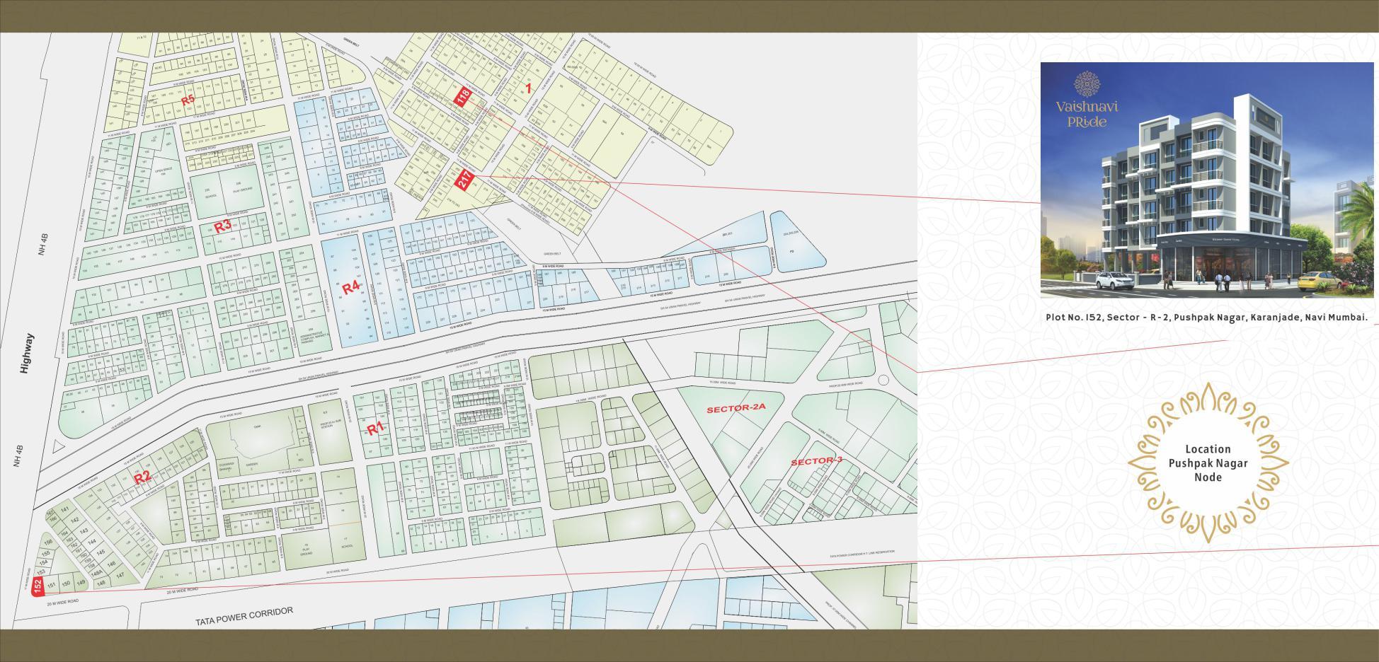 Vaishnavi Pride Location Map