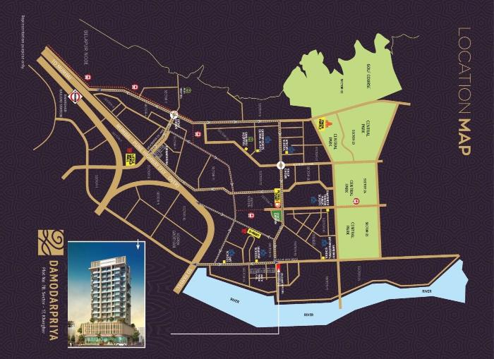 Shree Chamunda Damodarpriya Location Map
