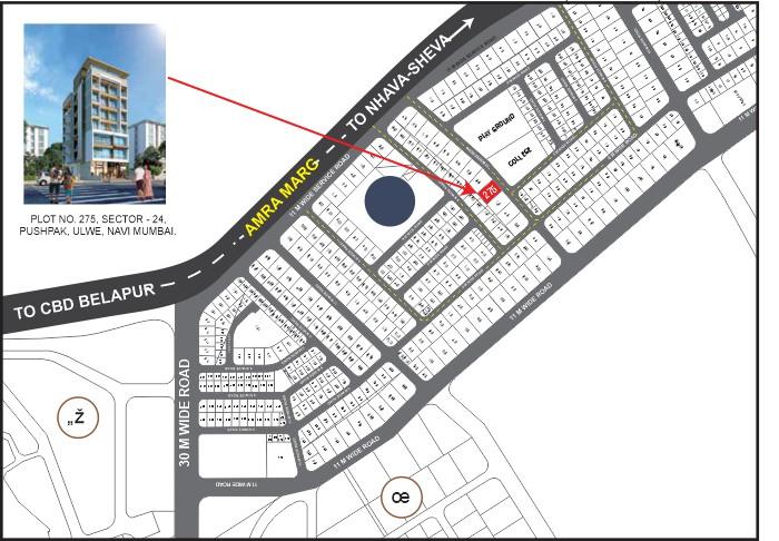 Sharada Residency Location Map