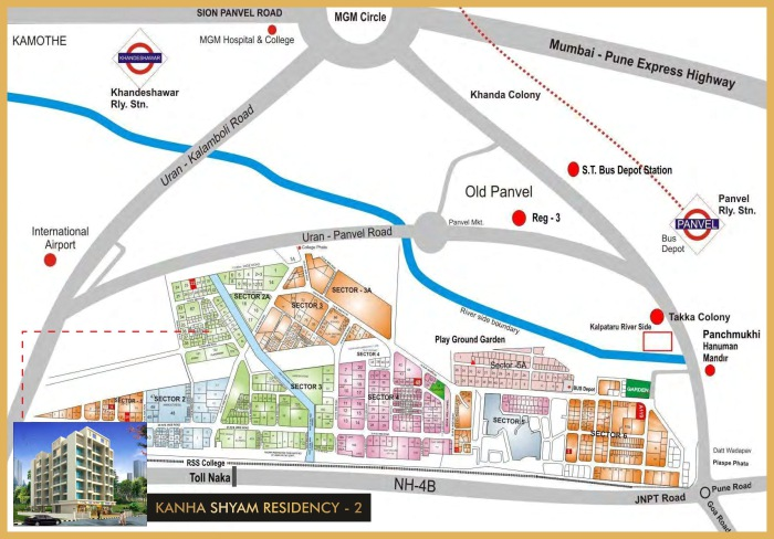 Kanha Shyam Residency 2 Location Map