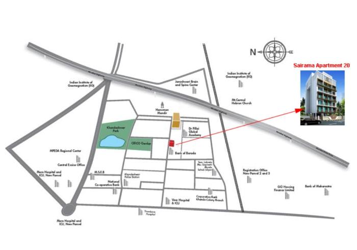Sairama Apartment 20 Location Map