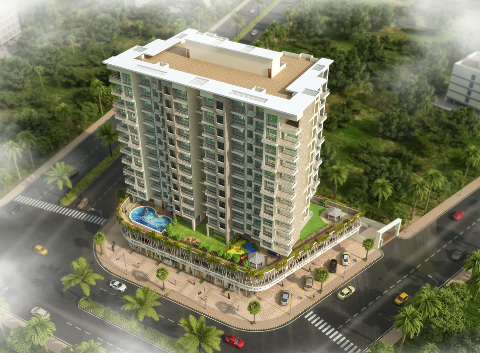 1 & 2 BHK Luxury Flats, Shops in Khanda Colony, New Panvel (W) - 410206 in Sadguru Universal