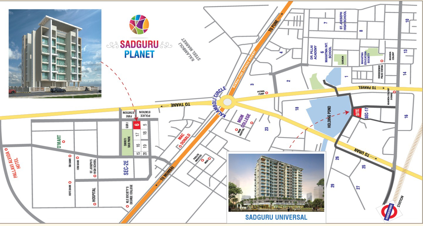 Sadguru Universal Location Map