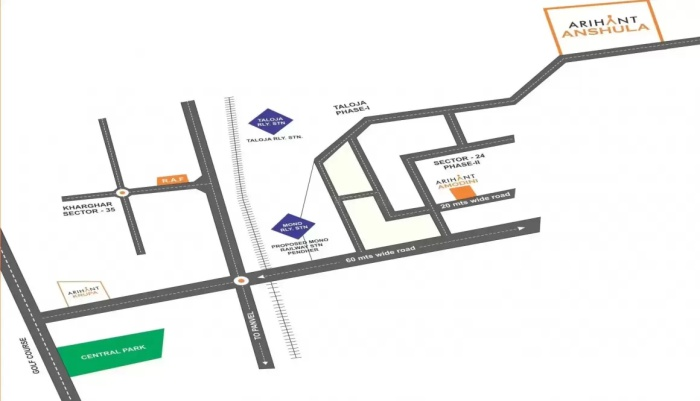 Arihant Anshula Location Map